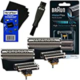 Braun 51B Foil & Cutter Replacement Head, Black (2 Pack) For WaterFlex WF1s, WF2s Shavers + Double Ended Shaver...