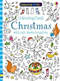 Colouring Book Christmas with Rub-Down Transfers (Usborne Minis)
