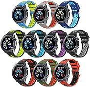 سوار FITLI متوافق مع Samsung Galaxy Watch 3 45 مم / Gear S3 Frontier/S3 Classic/Galaxy Watch 46 مم وغيرها من ت