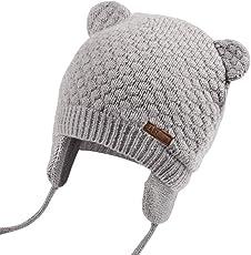 JOYORUN Unisex - Baby Mütze Beanie Strickmütze Unifarbe Wintermütze