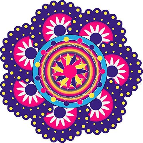 DeStudio 'Rangoli Pattern' Floor Sticker (PVC Vinyl, 60 cm x 60 cm, DS-11488-4)