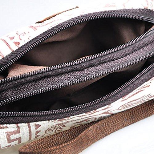YouPue Frauen Drucken Handtasche Vintage Geldbeutel Leinentasche Geldsack Asda Bild