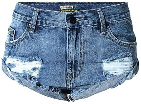 Wgwioo Le Donne Allentano I I I Pantaloni Caldi dei Pantaloni della Spiaggia dei Jeans del Denim Che Crimpano La Festa di Nightclub di Vacanza blu 34 | vendita all'asta  | finitura  8e7e3f