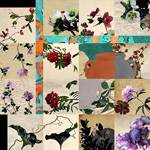 Tomasucci Collage Flowers Stampa, Legno, Multicolore, 60x60x3 cm