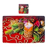 Ansenesna Tischset PVC Weihnachten Dekoration Rechteckig 42cmX27cm 6 Teilig (E)
