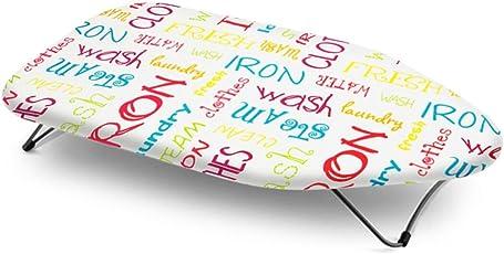 Bonita Bright Text Printed Mini Table Top Ironing Board