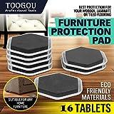 toogou Möbelgleiter, wiederverwendbar Filz Pads für leichte bewegen von schwere Möbel–ideal für Tische, Sofas, Betten, Kommoden & Geräte auf Hartholz/Keramik/Fliesen Böden & Teppichböden Oberflächen (schwarz)
