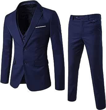 Suit Men's Slim Fit 3 Piece Suits Men's Suit Jacket for Wedding Business