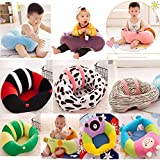 SHAH Brothers Enterprises Premium Quality Soft Plush Chair/seat For Baby Safety Sitting/Soft Soft Plush Chair For Kids Birthday (Black & Cherry Red)