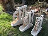 Wasserrad Mühlenrad Bachlauf Wassermühle Vollholz Handarbeit Neu Garten Deko voll funktionsfähig Premium (Premium XXXL)