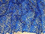 Zierrand Couture Brautschmuck schwere Guipure-Spitze Stoff Meterware, Royal Blau