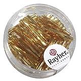 Rayher-1404906-Glasstifte-twistet-20-mm-mit-Silbereinzug-Dose-13g-gold