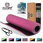 OxOFit All Purpose Yoga Mat for Men & Women Anti-Tear Sustainable TPE Material|for Yoga, Meditation, Pilates & Floor...