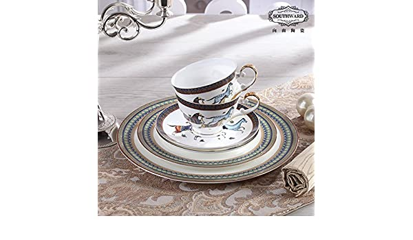 7d04e0ed21 Hei-Modèle Hermes Tasse à café en porcelaine plateau 6 pièces ensemble Les tasses  en porcelaine Vaisselle plateau de rafraîchissements2Partie,Orienter ...