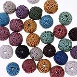 Piedra de Lava, perlas de lava, étnico pendientes accesorios, mezcla de color 12mm Lava perlas studs, 30pcs/lot