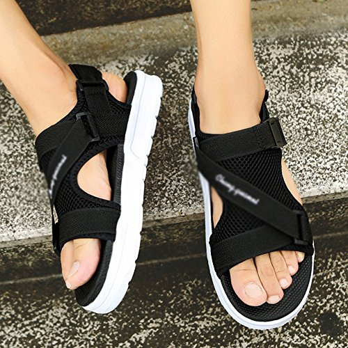 MAZHONG Sandalen Herren Sandalen Sommer Coole Hausschuhe Breathable Persönlichkeit Strand Schuhe ( Farbe : Weiß , größe : EU40/UK7/CN41 )