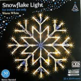 WARM WHITE SNOWFLAKE WINDOW LIGHT CHRISTMAS XMAS LED LIGHT