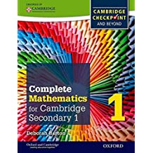 [Complete Mathematics for Cambridge Secondary 1 Student Book 1: For Cambridge Checkpoint and Beyond] (By: Deborah Barton) [published: November, 2014]
