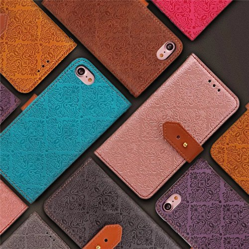 Coque iPhone 7,Coque iPhone 7 Plus, Coque iPhone 6/6S, Coque iPhone 6Plus/6S Plus, Coque iPhone Case cover, [Porte-cartes] étui Protection en Cuir Portefeuille multi-Usage Housse Rabattable(ARD-11) F