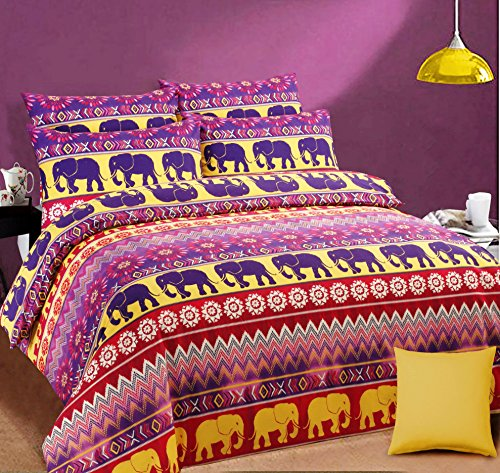 new-luxury-ethnic-indian-elephant-printed-duvet-cover-with-pillow-case-pink-double