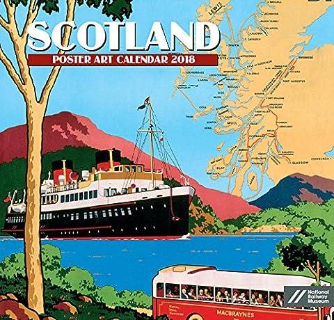 Schottland Poster Art Kalender 2018–Academy Serie