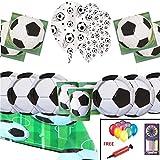 Suministros de Paquete de Fiesta de Fútbol Decoraciones de Fútbol de vajilla de Cumpleaños de Niños para 16 Invitados