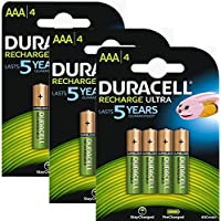 Duracell Batterie AAA Stay Charged già pronte all'uso, NiMH, ricaricabili,