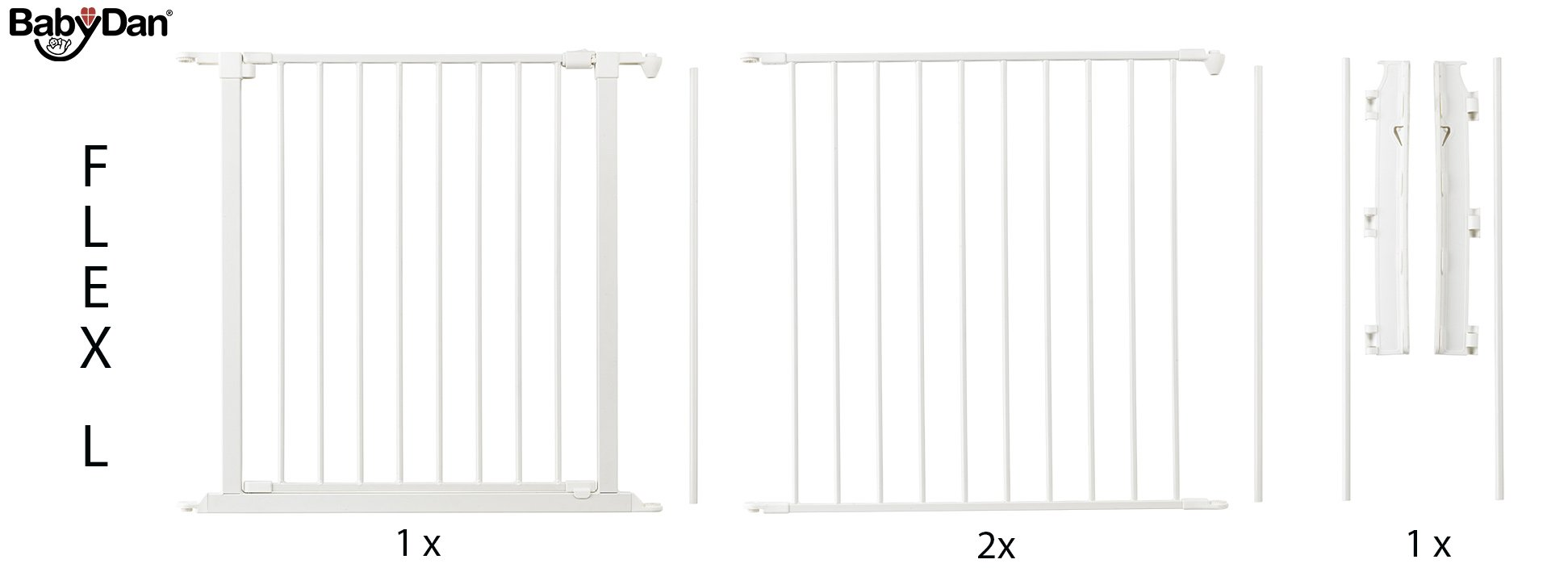 BabyDan Configure (Large 90-223cm, White)  Only configure system fulfilling newest European safety standard Multi purpose room divider and gate for wider openings Flexible and easy to fit 10