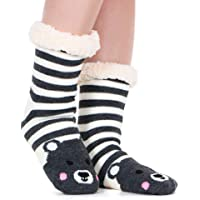 Tacobear Calze Pantofole Donna Casa Calze Invernali Antiscivolo Calzini Caldo Animale Calze Invernali con suola…