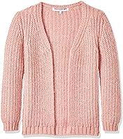 RED WAGON Mädchen Strickjacke Longline, Rosa (Pink), 122 (Herstellergröße: 7 Jahre)