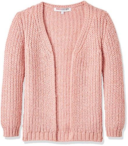 RED WAGON Mädchen Strickjacke Longline, Rosa (Pink), 110 (Herstellergröße: 5 Jahre)