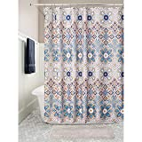 mDesign rideau de douche à motif médaillon indien – accessoire de salle de bain...