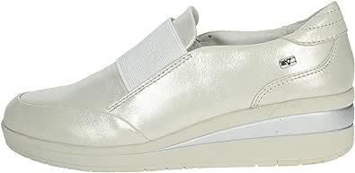 Valleverde 18151 Slip-ON Donna in Pelle Silver Perlato