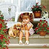 Puzzels Houten puzzel van 1000 stukjes Voor volwassenen of kinderen Klein meisje en dier Hond Grote puzzel Speelgoed Creatief kunstwerk Cadeau voor Huisdecoratie Elk stuk is uniek
