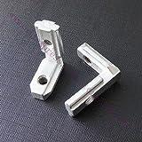 BHPSU 20 Stück T-Schlitz L-Form 2020 Aluminium-Profil Innenecken Verbinder Gelenkwinkel für 2020 Alu-Profil 3D-Drucker (mit Schrauben)