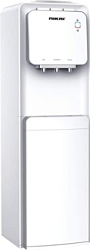 Nikai 3 Tap Free standing Water Dispenser with Cabinet, White - NWD1300C
