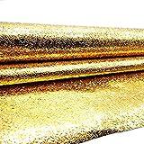 DooXoo 44x 200cm Küchentapete, PVC, Aluminium, Folie, selbstklebend, Mosaik (goldfarben)