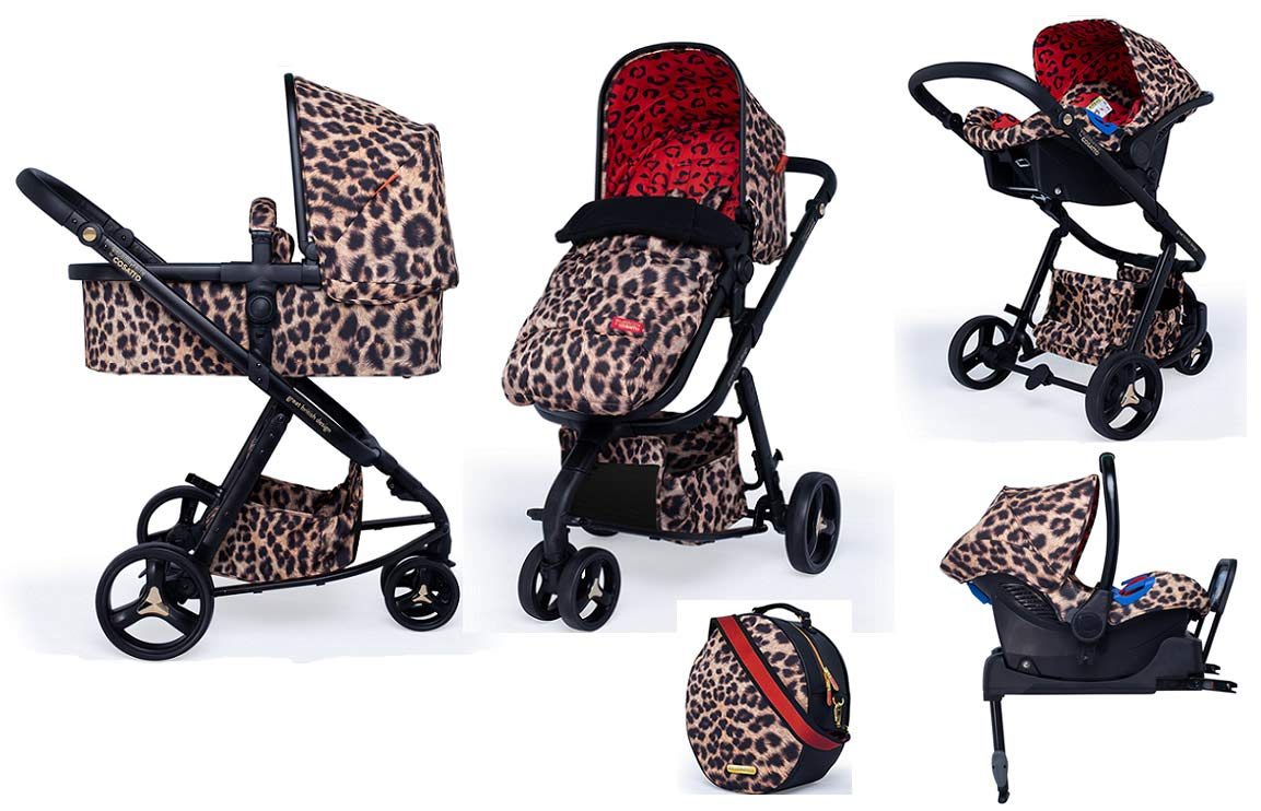 Cosatto Paloma Giggle 3 Travel Sytem Hear us Roar with Car Seat Base Bag Footmuff & Raincover Cosatto Includes - Pushchair, Carrycot, Port Car seat, Isofix base, Footmuff, Changing bag and Raincover All round suspension Suitable from birth carrycot and Car seat 1