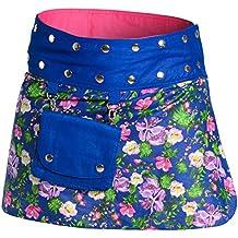 ufash Minifalda en Colores de Moda con Botones automáticos - Muchos diseños  Diferentes e404903b7784