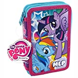 My Little Pony Filled Pencil Case - Book Style Stationery and Pens Set