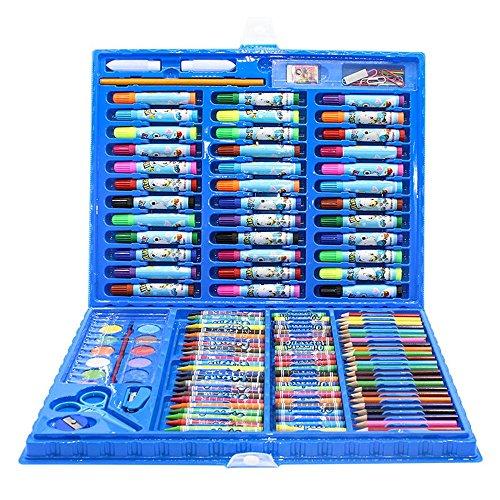 Zhangcaiyun penna di vernice set penna acquerello per bambini pittura cancelleria 150 set di strumenti di arte scuola elementare pastello penna combinazione acquerello graffiti pen (colore : blu)