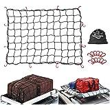 Inheming Auto Netz Elastisch Nylon Kofferraumnetz Mit 12 Haken Für Die Meisten Arten Von Autos 47 2x 35 4in Haustier