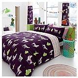 Artistic Fashionista New Luxuriöse Qualität und modernes Design Lama Bettdecke/Steppdecke, Set mit Kissenbezügen Bettwäsche-Set, Doppelbett