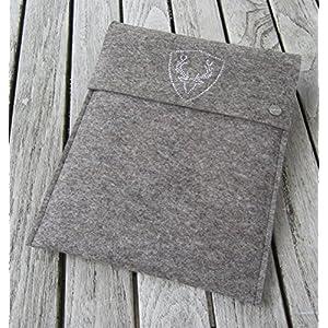 zigbaxx Tablet Hülle PLATZHIRSCH Case Sleeve Filz u.a. für iPad Air Air2, iPad 9.7, iPad Pro 9,7, iPad Pro 10,5 / iPad mini 2/3/4-100% Wollfilz pink schwarz beige grau braun Geschenk Weihnachten