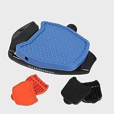 Chooee Clipless-Plattform Adapter Platten für Shimano Wellgo SPD Speedplay(schwarz/blau/orange)