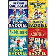 David baddiel 4 books collection pack set (parent agency,animalcolm,person controller,birthday boy)
