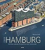 Über Hamburg, Luftbildband mit faszinierenden Aufnahmen der Hansestadt in gehobener Ausstattung, der atemberaubende Perspektiven präsentiert - Reimer Wulf