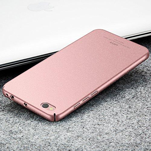 Xiaomi Mi 5c Hülle, MSVII® PC Kunststoff Härte Hülle Schutzhülle Case Und Displayschutzfolie für Xiaomi Mi 5c - Grau JY30074 Gold
