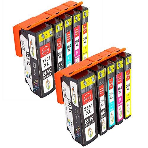 Win-Tinten Kompatibel Tintenpatronen Epson 33 XL für Epson Expression Premium XP-530 XP-540 XP-630 XP-635 XP-640 XP-645 XP-830 XP-900 Drucker (2 Schwarz+ 2 Photo Schwarz+ 2 Cyan+ 2 Magenta+2 Gelb) (Kompatibel Premium Tinte)