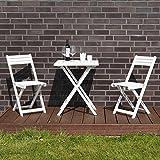 Tisch mit 2 Stühle, weiß